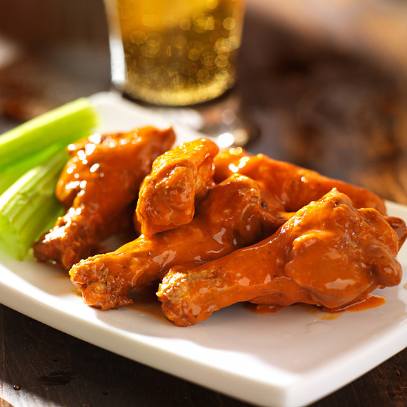 buffalo chicken wings with celery @ Coconut Grove