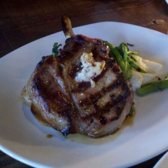 Pork Chop With Grilled Rappini @ Revival Bar + Kitchen