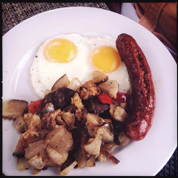 Sunnyside Up Eggs With Andouille Sausage - Marston's, Santa Clarita, CA