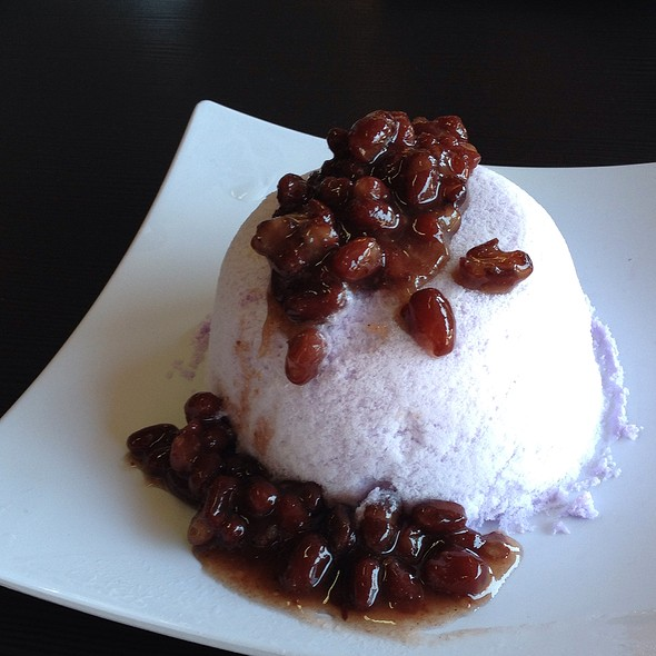 Taro Snow With Red Bean