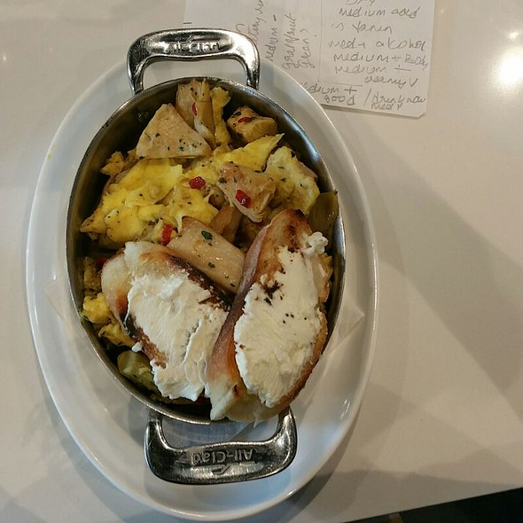 Eggs Artichokes Scrambled @ Elevage