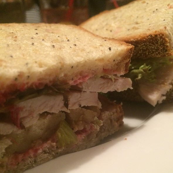 Turkey And Stuffing Sandwich With Cranberry Mayo - The Red Lion Inn, Stockbridge, MA