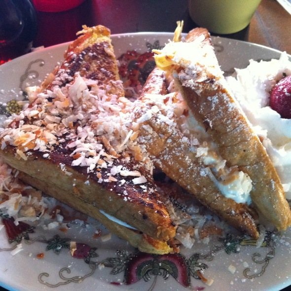 Coconut French Toast With Pineapple Cream Cheese @ Cornucopia's Noshery