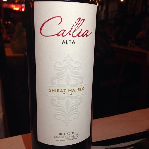 Callia Alta Shiraz Malbec 2012