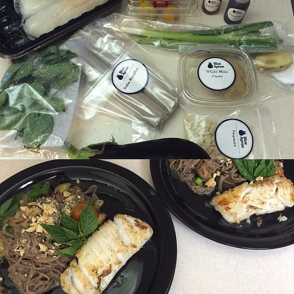 Cod And Miso Soba Noodles @ Blue Apron Meals