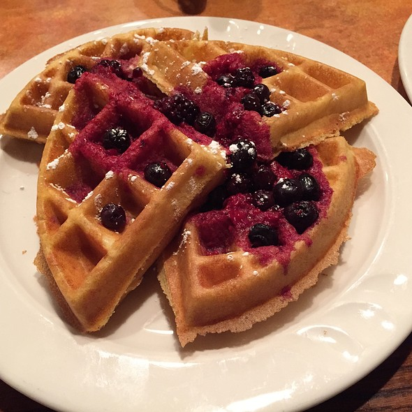 Blueberry Waffles @ Eggington's