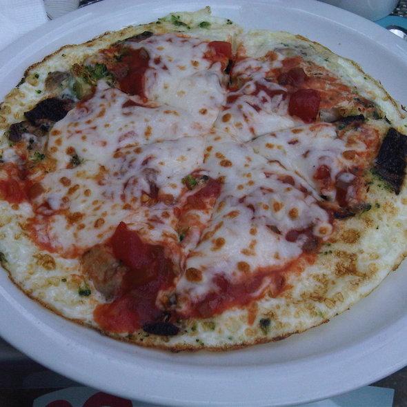 Egg White Pizza Omelette @ Steve's Deli Chicago