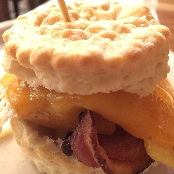 Bacon, egg, and cheese biscuit @ Maple Street Biscuit Company