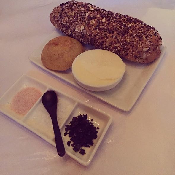 Nine Grain Bread Jalapeño Cornbread Butter With An Assortment Of Salt @ Bess Bistro on Pecan