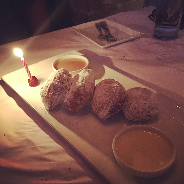 Beignets With A Butterscotch Sauce And A Fresh Cream Sauce @ Bess Bistro on Pecan