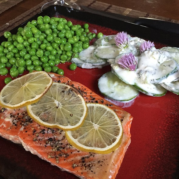 Cedar Plank Salmon @ Culinary Cave