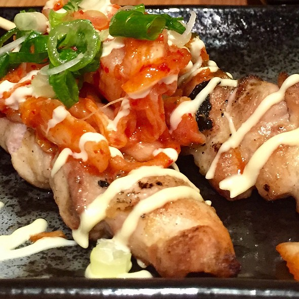 Chicken Yakitori With Kim Chee @ Yakitori Glad