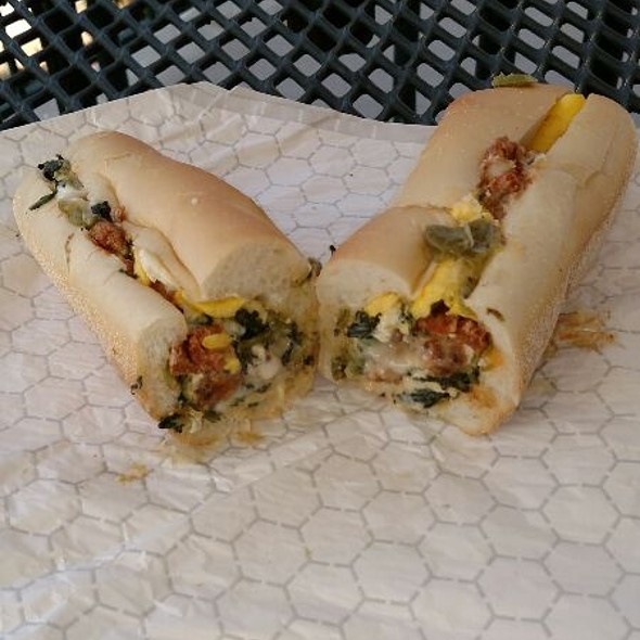 Hot Italian Sausage Pompeii Broccoli Rabe Long Hots Eggs And Cheese @ Divellos Deli