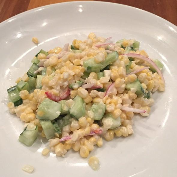 Corn, Cucumber, Chilies, Red Onion, Goat Yogurt