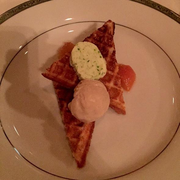 Waffles & Brown Sugar Ice Cream - Restaurant Gwendolyn, San Antonio, TX
