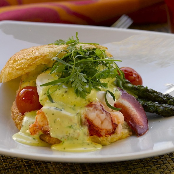 Lobster Eggs Benedict - The Boarding House, Nantucket, MA