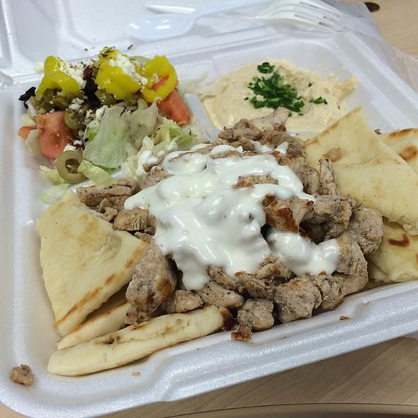 Chicken shawarma Plate @ Mona Pita