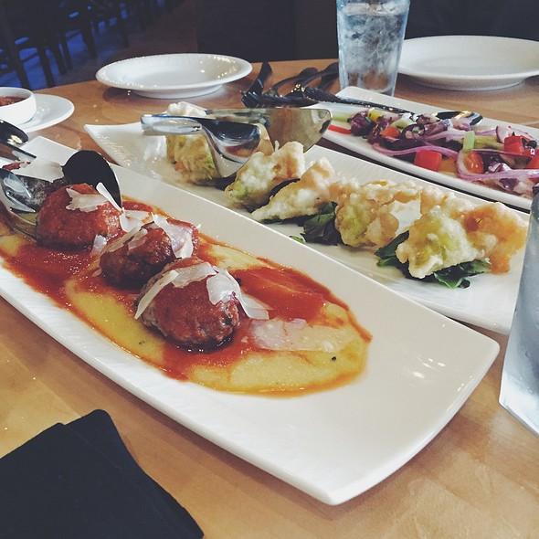 Octopus Salad, Lamb Meatballs And Fried Squash Blossoms @ Sapori Italian Restaurant