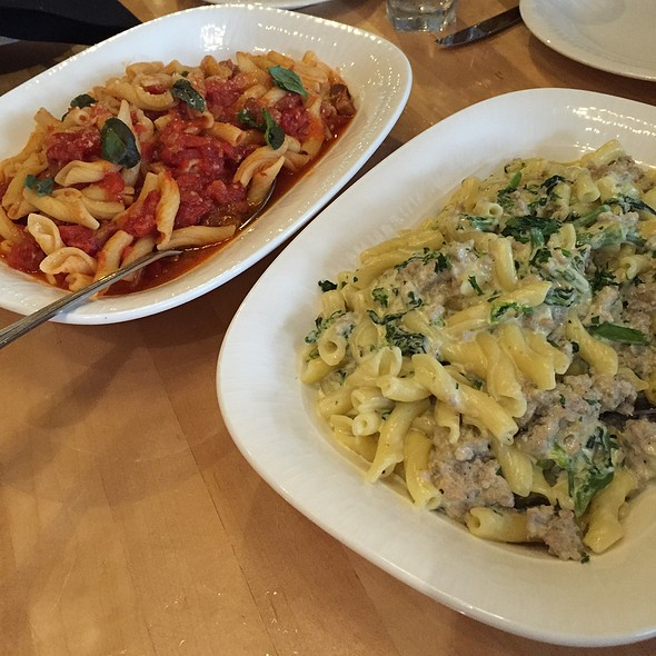 Tomato And Pork Pasta Plus Alfredo Sausage And Rapini Pasta @ Sapori Italian Restaurant