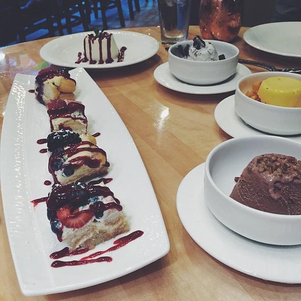 Fruit Tiramisu, Panna Cotta, Nutella Salted Caramel Gelato, Oreo Gelato And Mango Sorbet @ Sapori Italian Restaurant