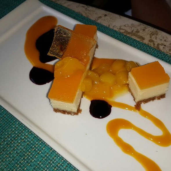 Passion Fruit Cheescake - Essensia Restaurant & Lounge, Miami Beach, FL