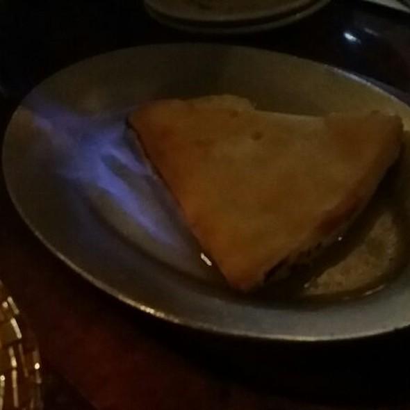 Saganaki Kefalograviera @ Limani Seafood Grill