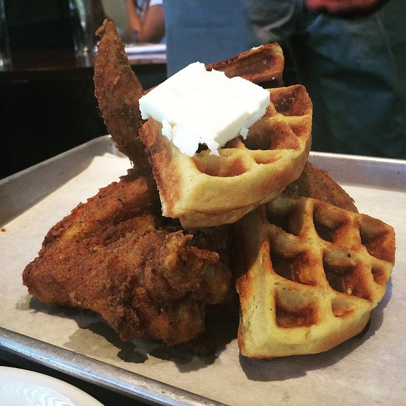 Chicken and Waffles - Post & Beam, Los Angeles, CA