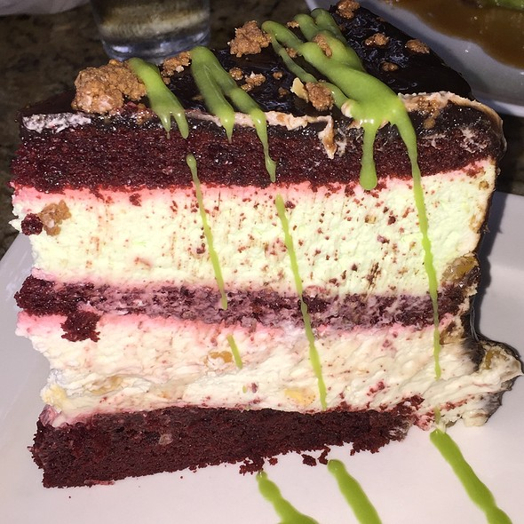 Red Velvet Suspension Cake - Poor Calvin's, Atlanta, GA