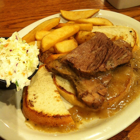 Open Faced Roast Beef Sandwich at Cracker Barrel Old Country Store