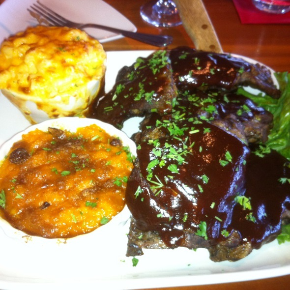 Ribs With Mac Cheese And Sweet Potato Casserole - RockBass Grill, Wormleysburg, PA