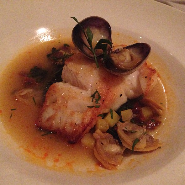 Braised Cod With Chorizo And Clams @ L'Ecole, the Restaurant of The FCI