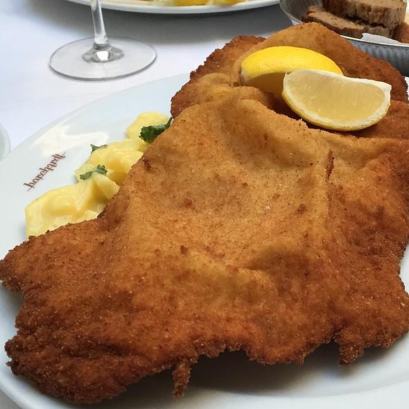 Small Viennese Schnitzel With Potato Salad @ Borchardt Restaurant Gourmetrestaurant