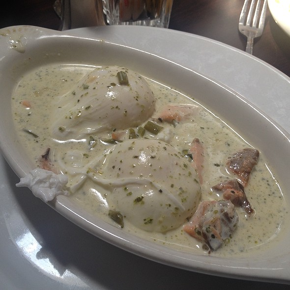 Salmon and Poached Eggs @ Due Amici Italian Grill