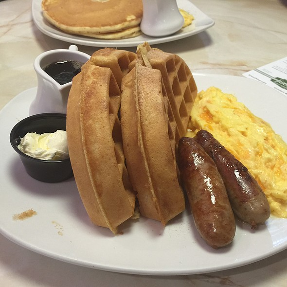 Waffle, Sausage & Eggs @ Silver Diner