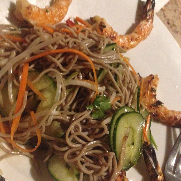 Sobo Noodles With Shrimp @ Scott's Seafood on the River
