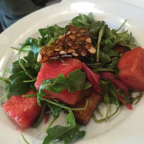 Watermelon,Pork Belly Salad - K & L Bistro, Sebastopol, CA