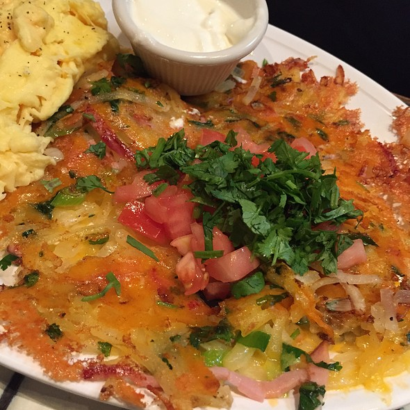 Ham & Cheese Potato Pancakes @ Montclair Egg Shop