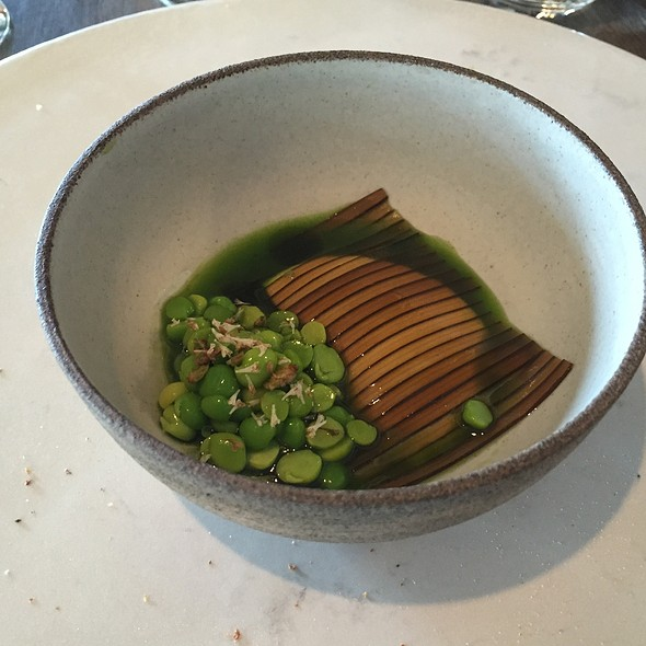 Sweet Peas, Milk Curd, And Sliced Kelp