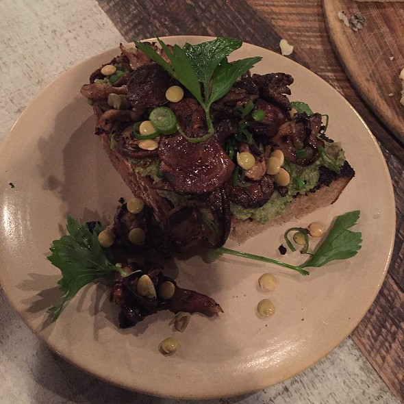 Mushroom And Lentil Tartine @ La Brasa