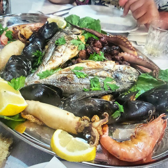 Mixed Grilled Fish And Seafood @ Lindos Beach
