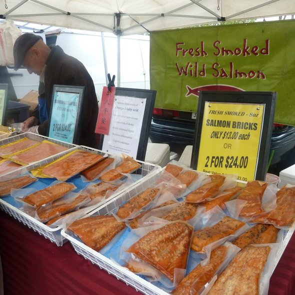 Marinated Salmon @ Mountain View Farmers' Market