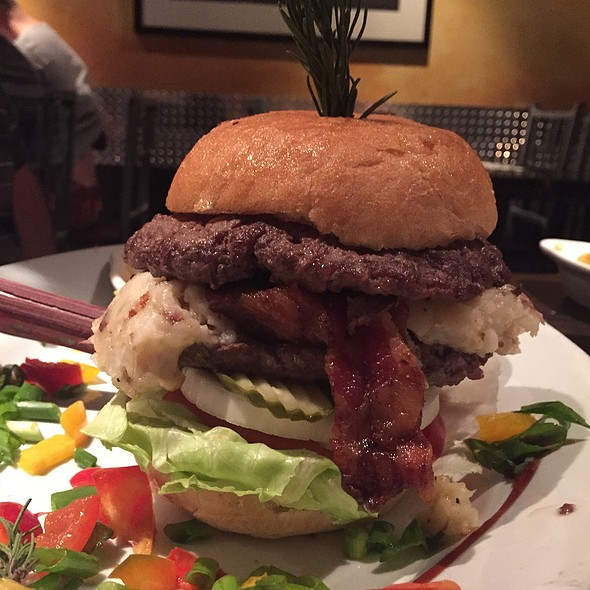 stuffed Burger With Bacon And Mashed Potatoes
