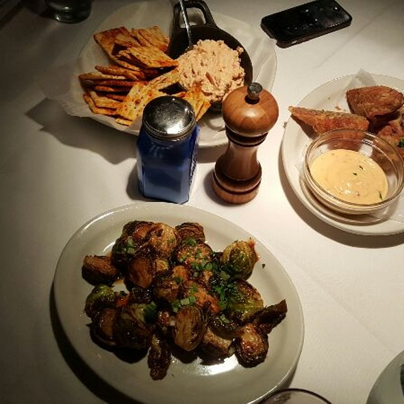 Pimento Cheese Spread, Duck Eggrolls, & Crispy Brussels Sprouts