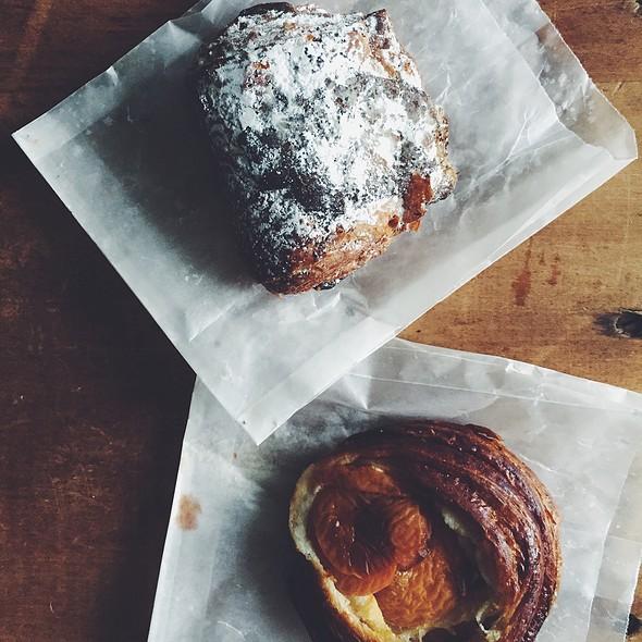 Apricot Danish And Chocolate Pistachio Croissant @ Pleasanton Brick Oven Bakery