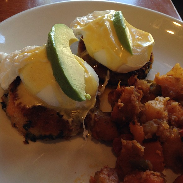 sweet potato croquette benedict