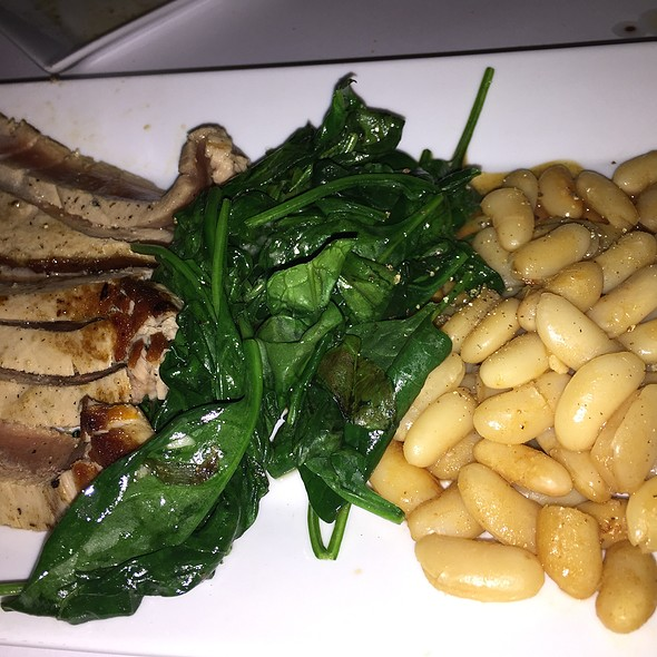 Fresh Tuna With Canneloni Beans And Spinach - Cafe Pro Bono, Palo Alto, CA