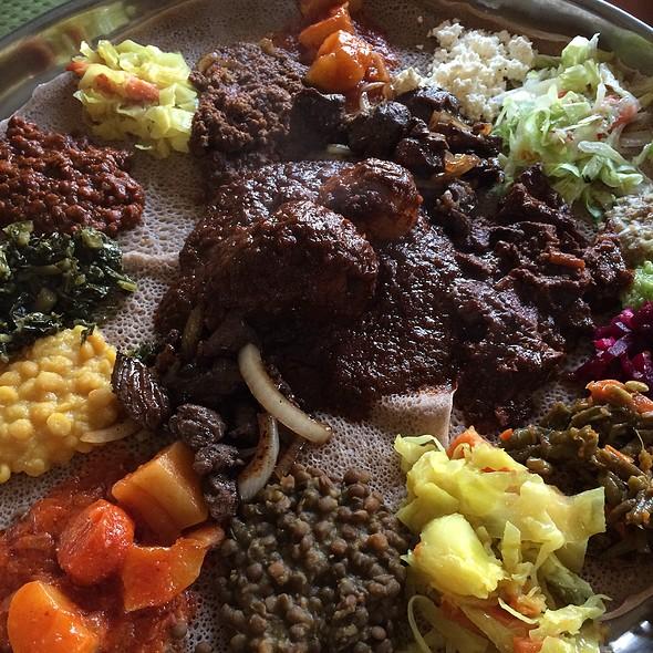 Veggie Combo & Meat Combo @ Bete Ethiopian Cuisine & Cafe