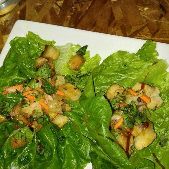 Lemongrass Porkbelly Lettuce Wraps @ Rooster and The Pig