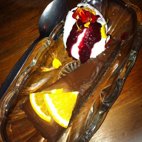 Raw Jaffa Dessert @ Threeworlds Organic Cafe