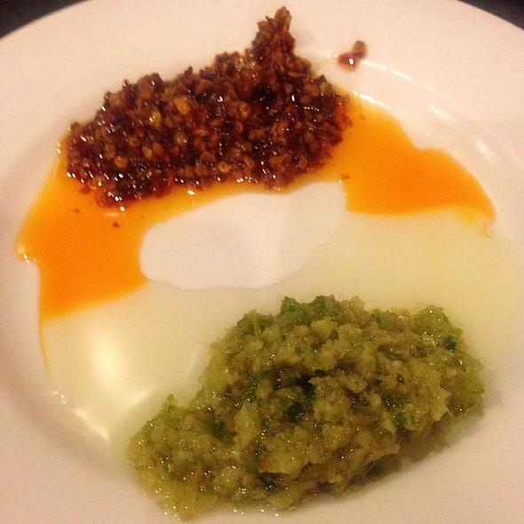 Chili Oil And Ginger Scallion Sauce @ Big Wong King Restaurant
